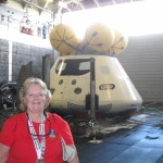Jennifer Andrews at the Norfolk Naval Station witnessing the stationary recovery of the Orion crew capsule.