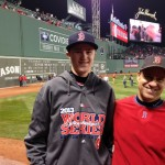 Scott Merritt (L) and his dad (R) at Fenway Park during game six