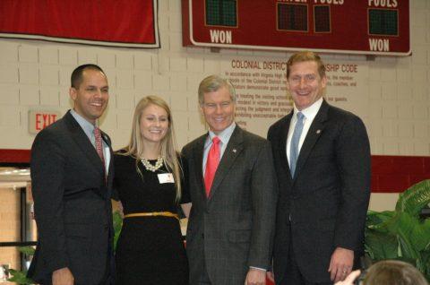 Governor Bob McDonnell visits Godwin