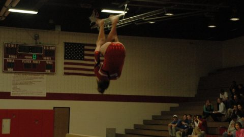 Godwin gymnastics wins last home match