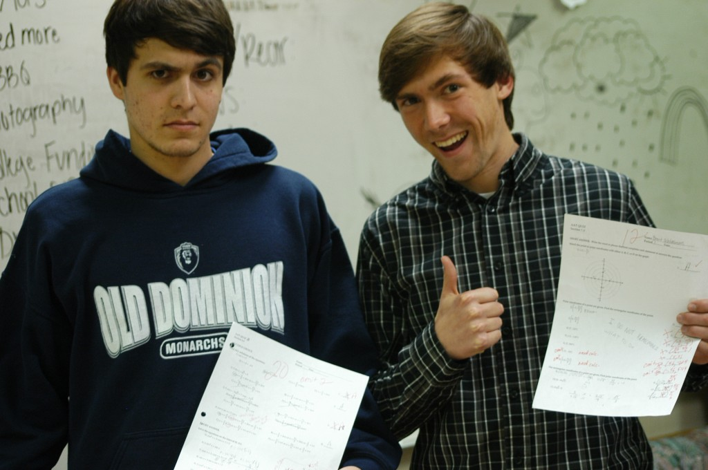 Studying pays off for seniors Dallas Reid (l) and Brent Schlesman.