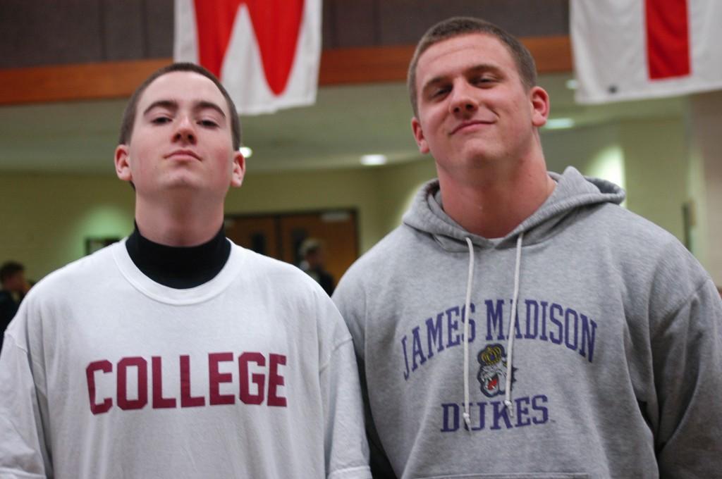 Seniors Curt Kennedy (l) and AB Rhodes