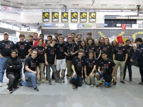 Godwin robotics competes at the 2014 FRC Virginia Regional Tournament