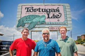Guy Fieri and the owners of Tortuga's Lie
