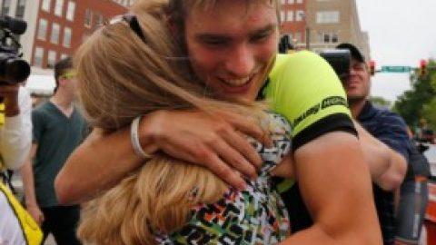 Godwin teacher's son wins bike race