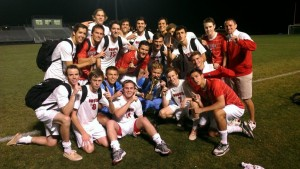 Boy's soccer after winning the conference