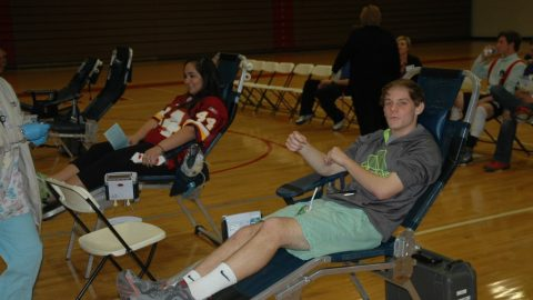 Godwin medical club hosts a blood drive
