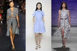 Different styles of the classic shirtdress seen at 2015 Fashion Week.