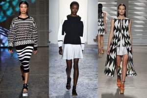 Black and white styles from fashion week.