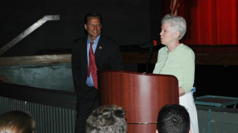 Congressman Dave Brat comes to Godwin to speak to Government Classes about pressing topics