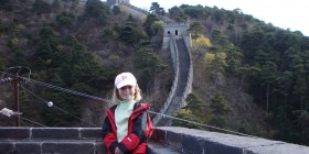 Furash on the great wall of China