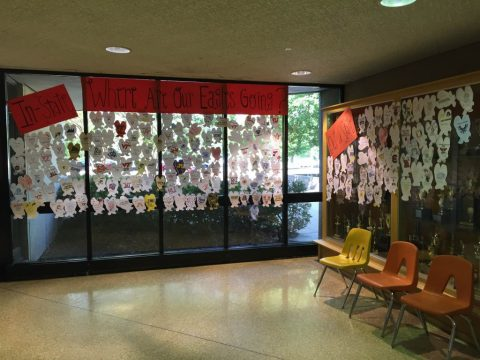 New twist on a classic Godwin tradition; students decorate eagles to show plans for next year