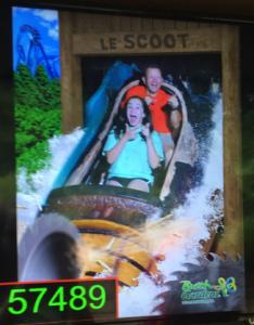 Math Teacher John Fletcher and his daughter on a ride at Busch Gardens.