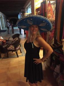 Math Teacher Lauren Blanks at a restaurant in Maya Riviere, Mexico.