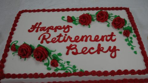 Godwin attendance secretary retires