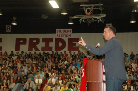 Chris Herren addresses Godwin students on substance abuse