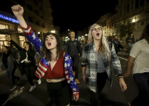 Photo Google Images  Two women protest in California following the election of Donald Trump