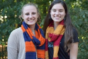 Photo courtesy Miles of Scarves Emily Miller (l) with head Patron