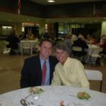 Photo courtesy Eagles' Eyrie                                 Skip Stevens (l) with mother, Penny, at the GHS Hall of Fame ceremony. Stevens has resigned as soccer coach.