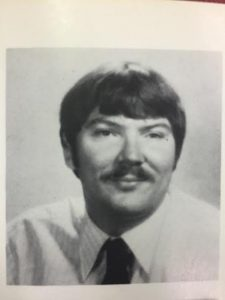 photo courtesy Godwin yearbook 1981 Hoy during his first year of teaching at Godwin, 1980-81.