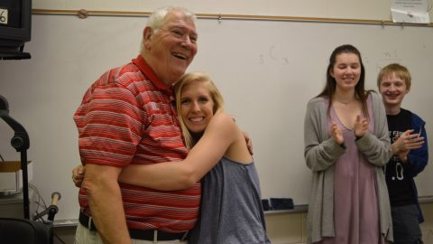 Godwin says goodbye to math teacher Thomas Hoy- photos Dalia Jimenez