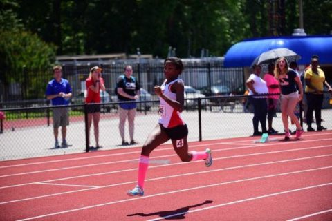 Britton Wilson dashes to first at states