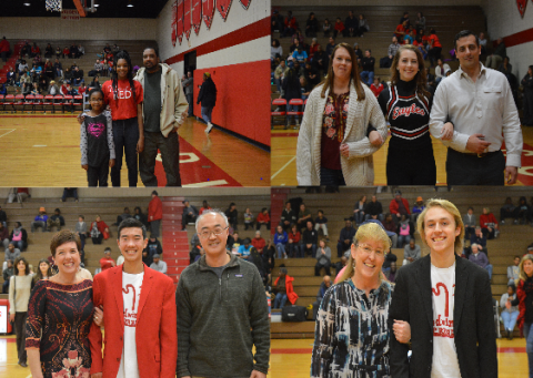 Winter sports senior night 2017-18