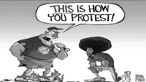 Protesting your rights, within your rights